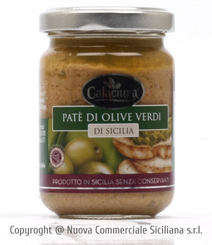 PATE' DI OLIVE VERDI IN OLIO EXTRAVERGINE DI OLIVA GR 140