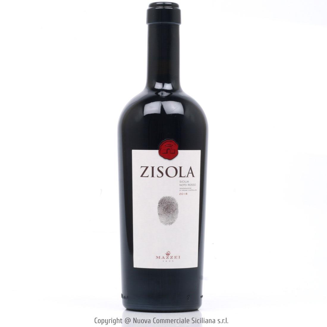 ZISOLA NOTO ROSSO DOC 2018 - SICILIA/ROSSO CL 75